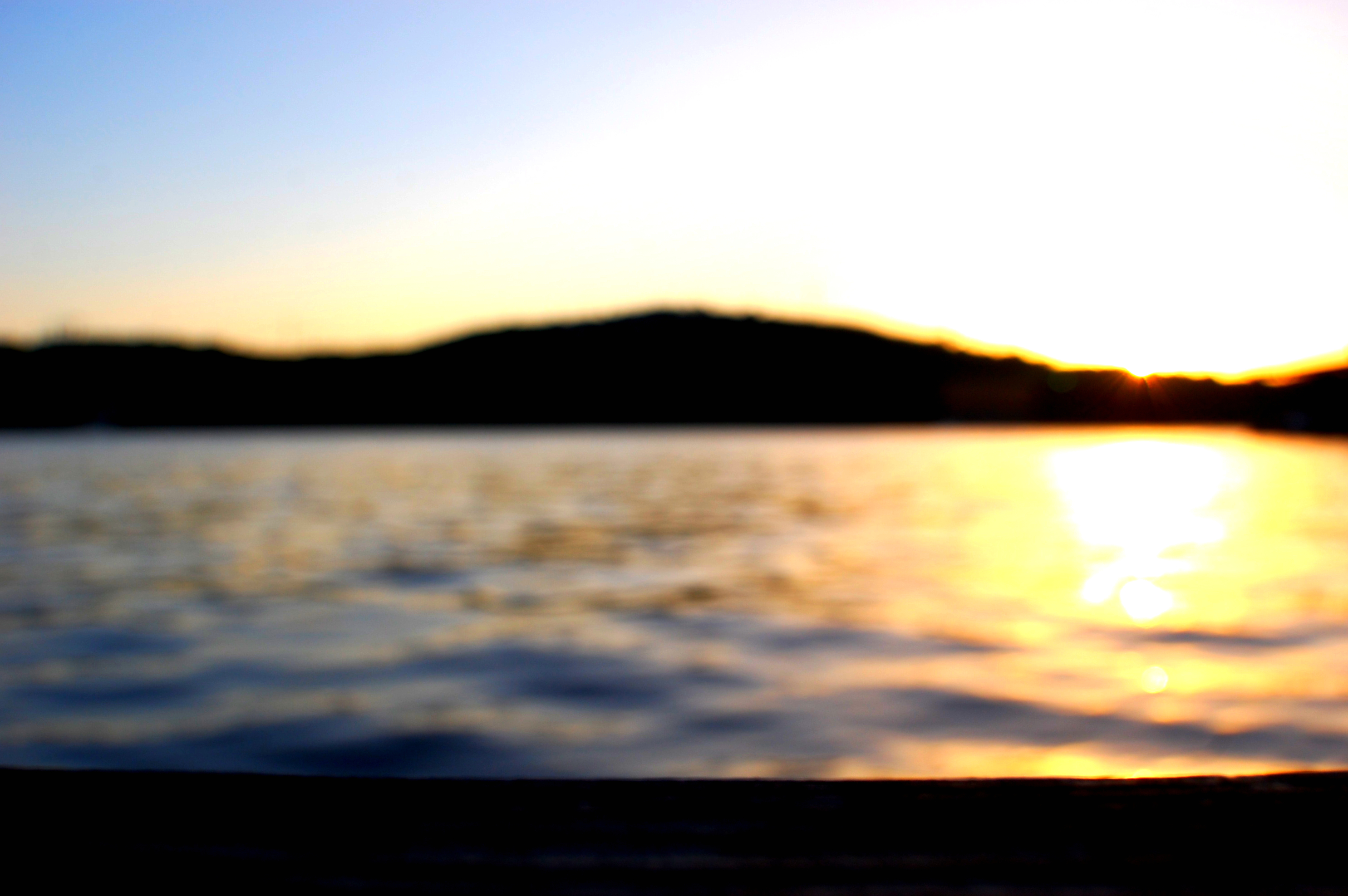 sunset over water-1